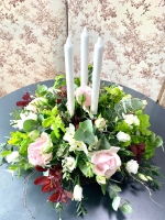 Make a large floral table centre